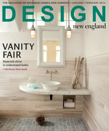 Cover Story - Interior Design by Lisa Kauffman Tharp featured in cover story, Design New England Magazine