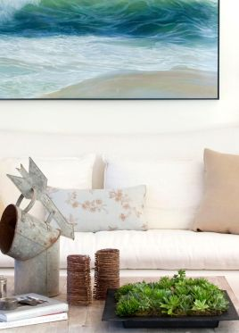 coastal loft living room by lisa k. tharp